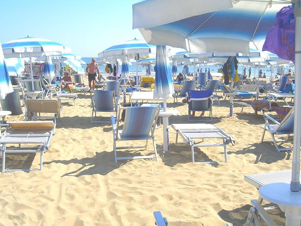 Hotel Tiffany Jesolo, Beach, Sun bed, Umbrella, Deck chair